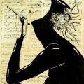 "Saatchi Art Artist: Krzyzanowski Art; Ink 2014 Painting ""Cybernetic evolution"""