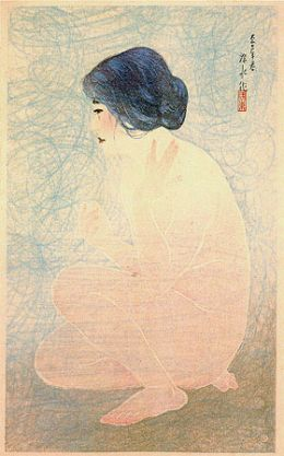 """Shinsui Ito: Bathing in Early Summer from """"Twelve Modern Beauties"""""""