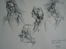 Sketch-1 of US President Barack Obama, Prime Minister Julia Gillard