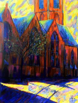 St. James Church (Grote of St.-Jacobskerk) at The Hague - 10-03-15 (for sale)