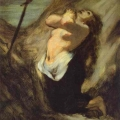 St. Magdalene in the Desert by Honoré Daumier