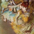The Athenaeum - Ballet Dancers on the Stage (Edgar Degas - )