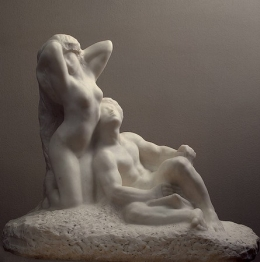 The Poet and The Muse, by Auguste Rodin.