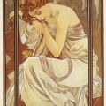 The Times Of Day, Night's Rest - Alphonse Mucha