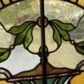 Victorian Arch Stained Glass Window - Oak Frames