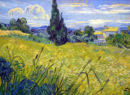 Vincent van Gogh: Landscape with Green Corn, Green Wheat Field with Cypress