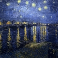 Vincent Van Gogh - Starry Night in Rhone