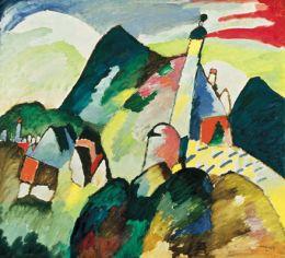 Wassily Kandinsky: Blick auf Murnau mit Kirche